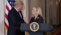 US: Homeland Secretary leaves after talking with Trump