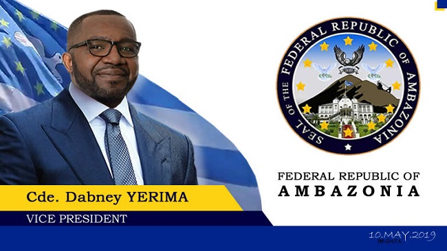 We have our International boundaries, We have our flag, We have our anthem; Ambazonia VP