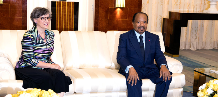 Ailing Biya bids farewell to Canadian High Commissioner