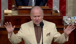 US House chaplain holds exorcism to cast 'spirits of darkness' from Congress
