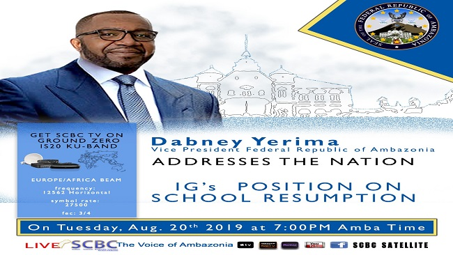 Federal Republic of Ambazonia: Vice President to address nation tomorrow