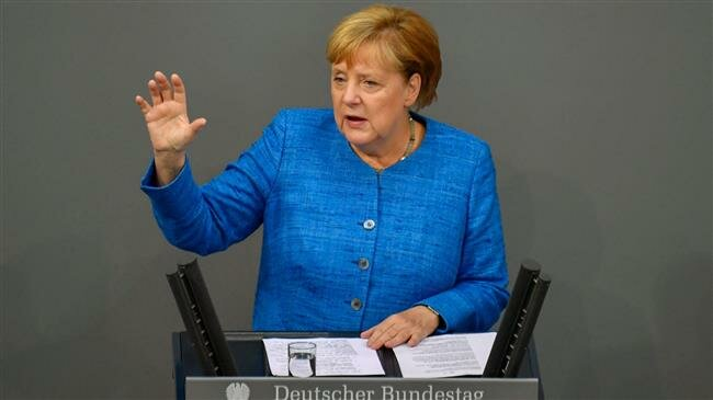 Bundeskanzlerin Angela Merkel says Europe has chosen to uphold Iran deal