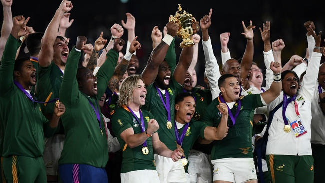 South Africans hope Rugby World Cup win will bring brighter future