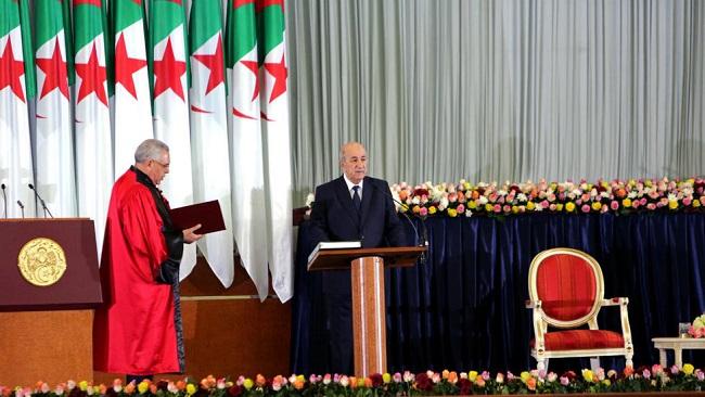 New president sworn in to lead protest-hit Algeria