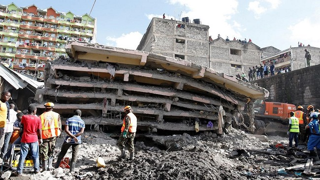 Kenya: Multi-storey building collapses in Nairobi, deaths reported