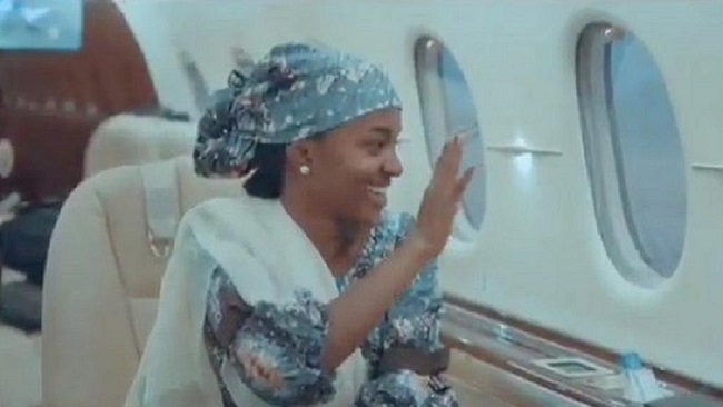Private use of presidential jet by President Buhari's daughter gets Nigerians sparring
