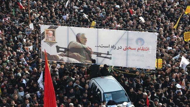 'Million-strong' homage for general brings Tehran to standstill