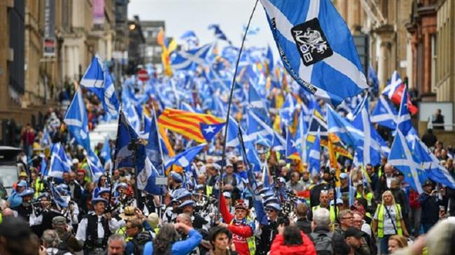 Scottish independence movement in massive show of strength