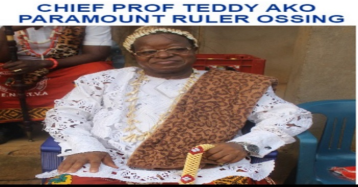 Knowing the new traditional ruler of Ossing Prof Teddy Ako