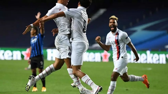 Choupo-Moting, PSG beat Atalanta 2-1 to reach Champions League last 4