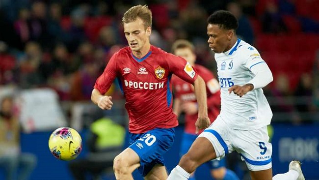 Football: Clinton N'Jie on target as Dynamo Moscow hold FC Ufa