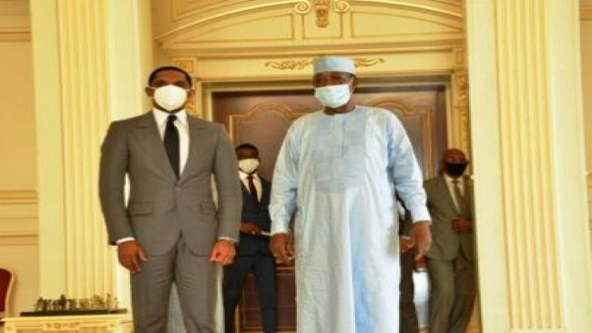 Football: Eto'o meets Chadian President at N'djamena Palace
