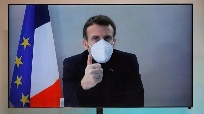 French President Macron free of Covid symptoms
