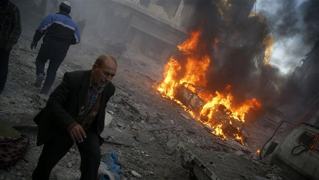 Russia bombs US-backed militants in Syria