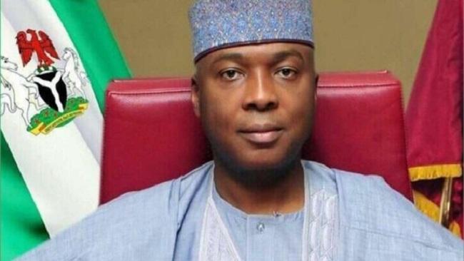 Abuja: Nigeria's senate president Bukola Saraki declares presidential bid