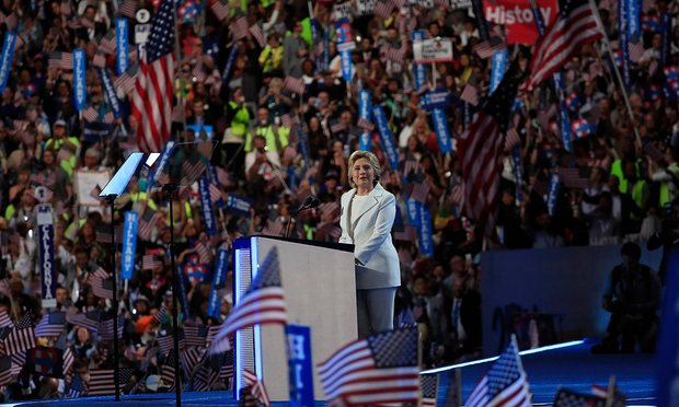 Hillary Clinton formally accepts the Democratic Party's nomination