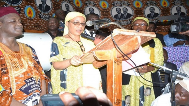 Late President Ahidjo's daughter installed as head of the Yaounde Conference Center