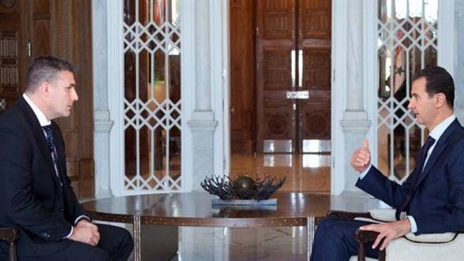 """""""West sending officials to deal with us under the table"""" President Bashar al-Assad"""