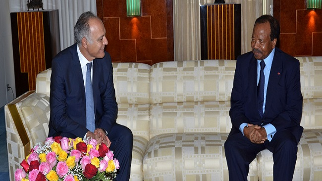 Biya receives Moroccan Minister of Foreign Affairs