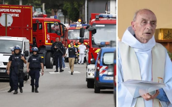 Isis knifeman cuts the throat of a Roman Catholic Priest in France