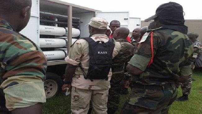 Cameroon: Rapid Response Brigade (BIR) receives ROWPU 2k water purification systems
