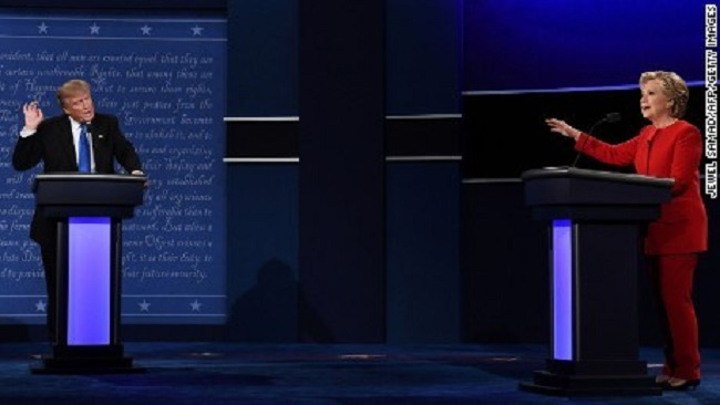 Donald Trump and Hillary Clinton clashed during first presidential debate