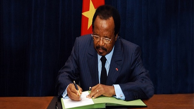 Biya gives a P45 to the Senior Divisional Officer of his home constituency, the Dja et Lobo