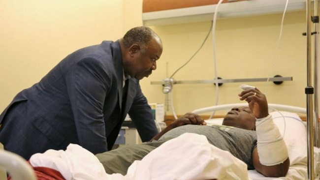 Libreville: President-elect visits wounded security officers