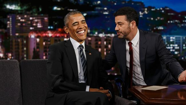 President Obama says watching Trump is just to laugh