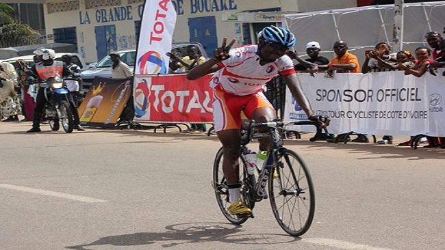 Ivorian cyclist wins first lap of Chantal Biya Tour