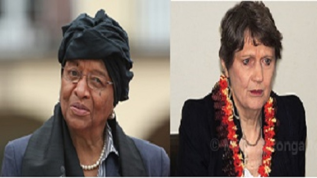 Ellen Johnson Sirleaf and the UNDP Director express sadness over the Eseka train accident