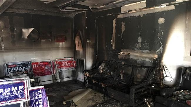 Republican Party office in North Carolina attacked with firebombs