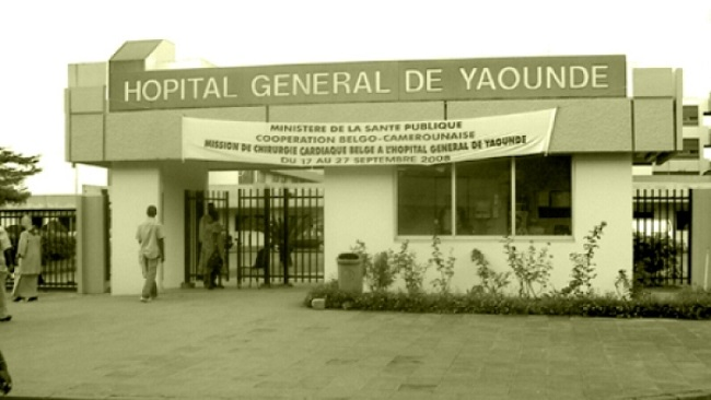Patients strike at the Yaounde General Hospital as the priviledged are evacuated to France