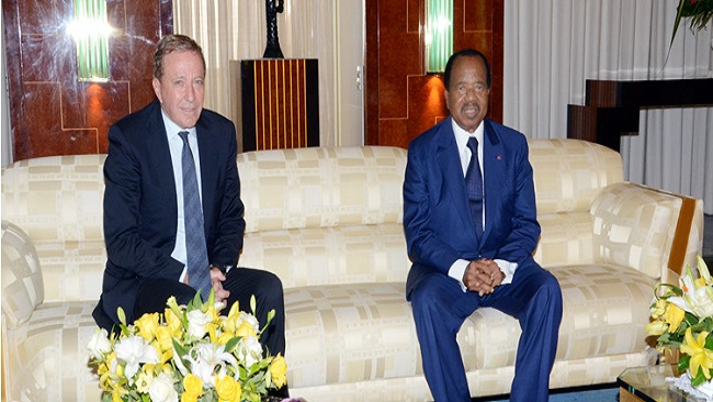 Biya meets with the CEO of Webb Fontaine Group