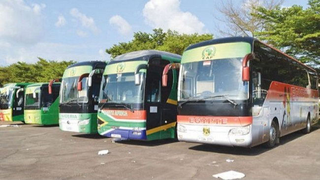 Women's AFCON 2016: Cameroon to transport Ghanaian and Malian delegations with buses that have cracked windscreens.