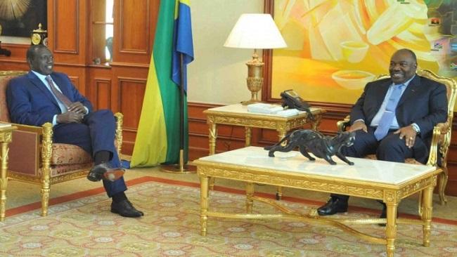 Kenya Vice President Ruto meets Ali Bongo of Gabon