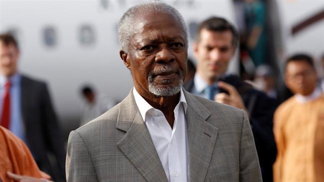 Kofi Annan on a fact-finding mission in Myanmar
