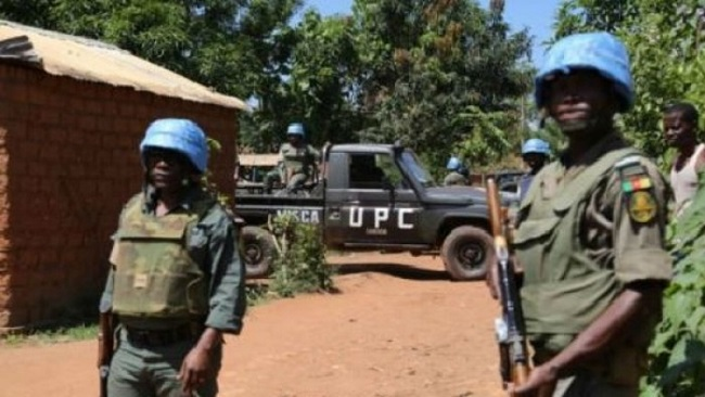 Cameroon: Soldiers on a UN peacekeeping mission selling beer in the Central African Republic