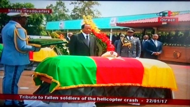 Biya meets caskets of fallen military officials