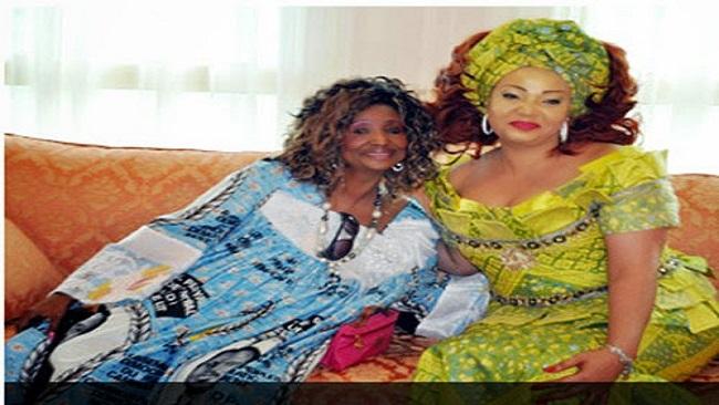 Fru Ndi shines at memorial of  Chantal Biya's late mum