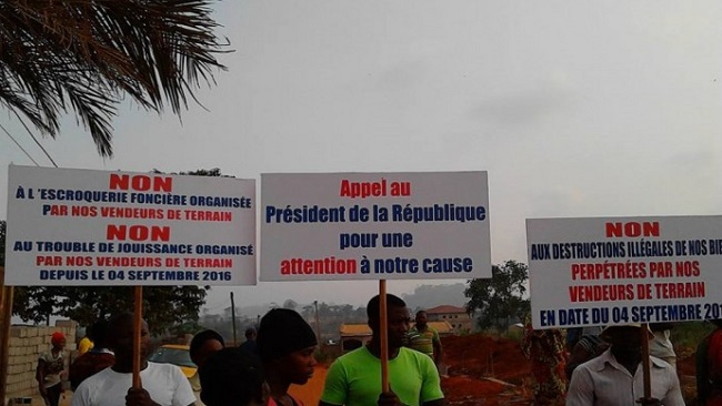 Yaounde: Protest as many rendered homeless by Chantal Biya cousin