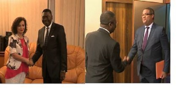Burkinabe and UN officials at State House