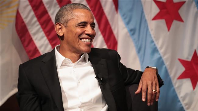 Obama speaks in Chicago, avoids criticism of Trump
