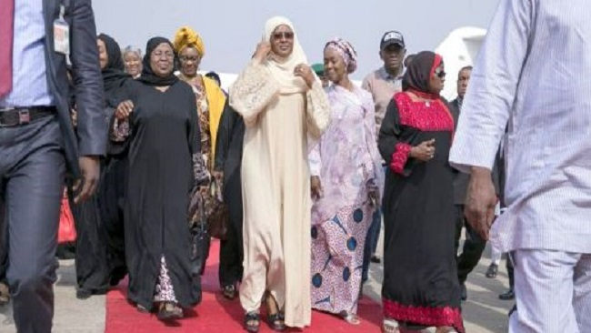 Nigeria's First Lady travels to the UK to visit ailing Buhari