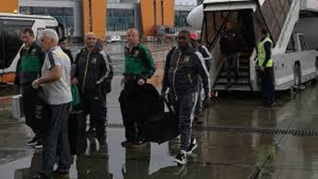 Confederations Cup: Lions were an hour late for training in Moscow!! Turned up 45 minutes late to the team hotel in St Petersburg