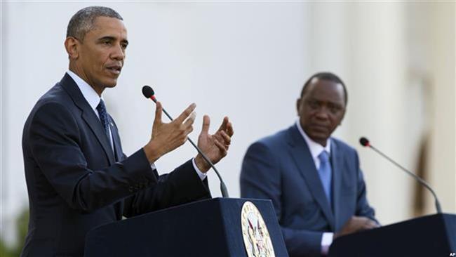 Obama calls for calm in fatherland Kenya
