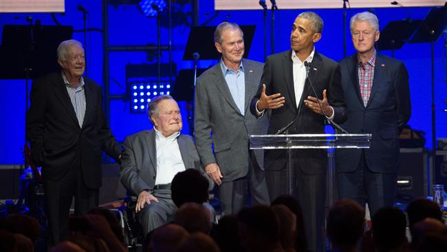 5 former US presidents attend hurricane relief concert