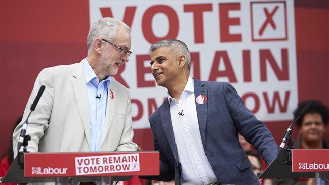 Khan, Corbyn call on UK PM to sack Johnson