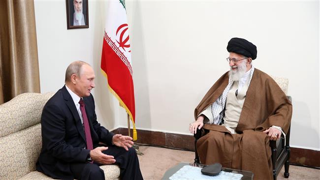 Putin meets Ayatollah Ali Khamenei