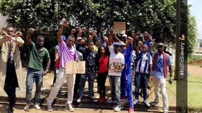 Yaounde: Cameroonians protest against sale of migrants as slave in Libya